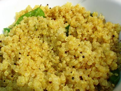 Quinoa with basil and pine nuts