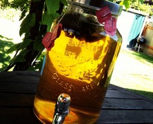 Sun tea & grilled cookies