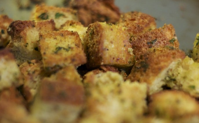 Baked Herbed Croutons