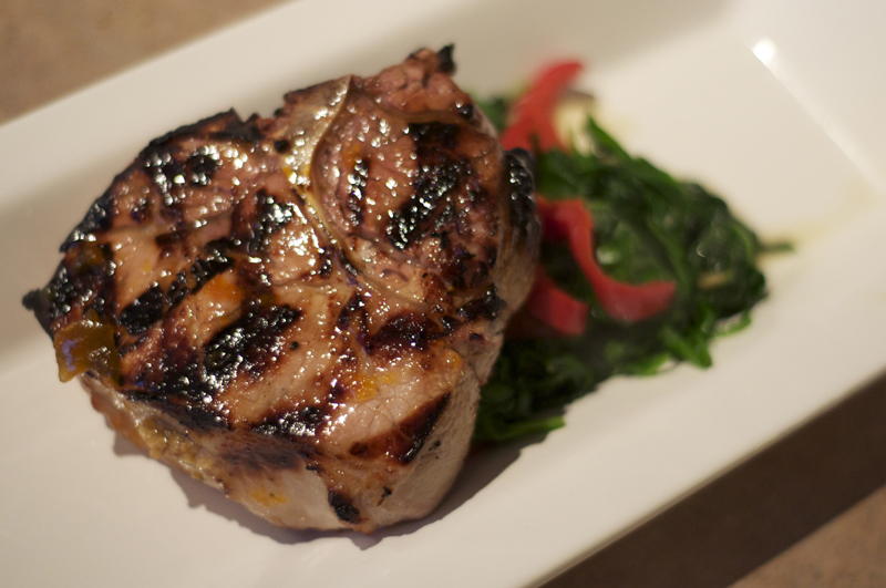 Stuffed Pork Chops with Apricot Glaze