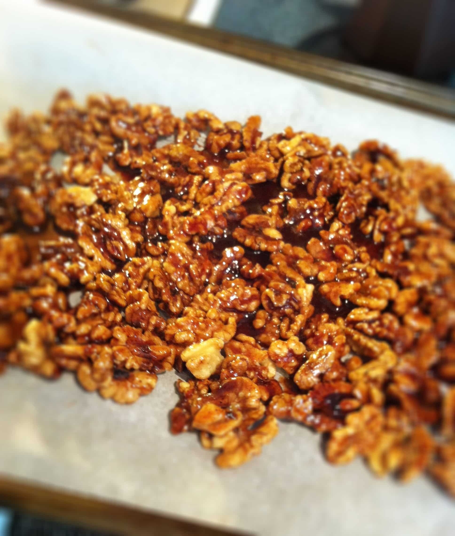 Spicy Sugared Walnuts