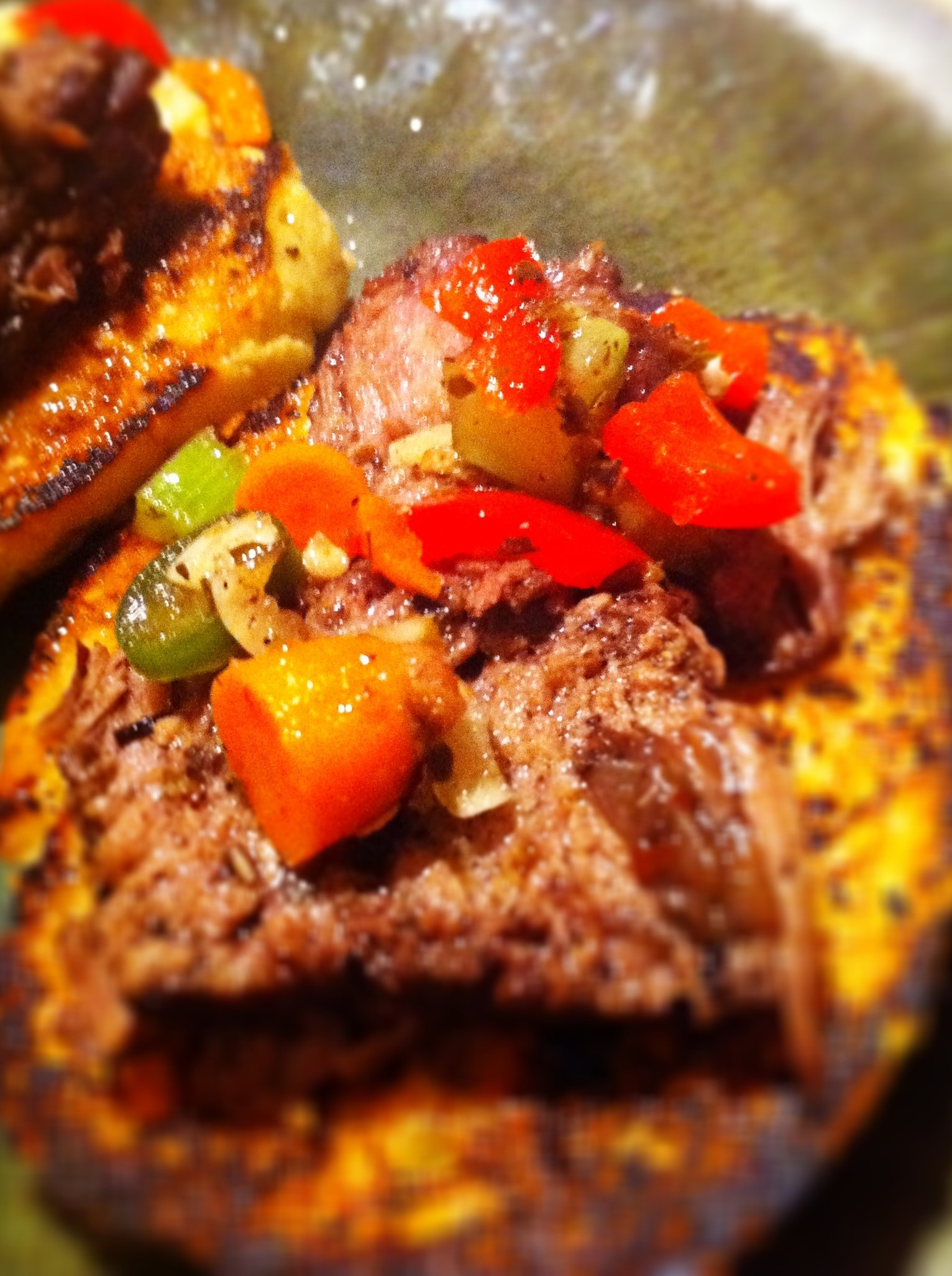 Italian Beef Pot Roast Sandwich with Hot Giardiniera