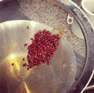 Achiote seed, also known as Annatto seed, has a deep earthy flavor combined with brilliant red color. It can easily stain, so use caution when making the oil!