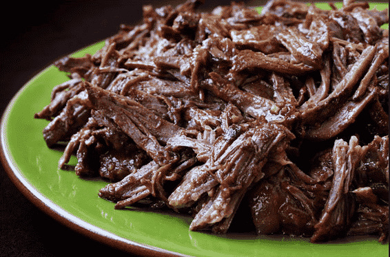 Shredded beef taco party