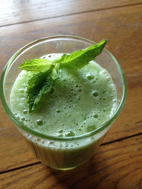 Honeydew, cucumber and mint cooler
